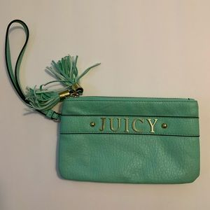 Double pouch, Juicy Couture, teal wristlet